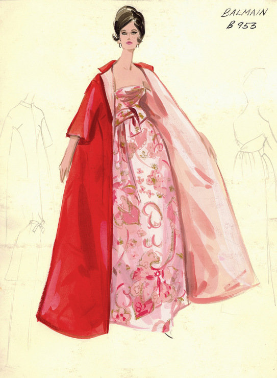 5cd3549a19e Коллекция эскизов из архива шикарного нью-йоркского универмага Bergdorf  Goodman представляет