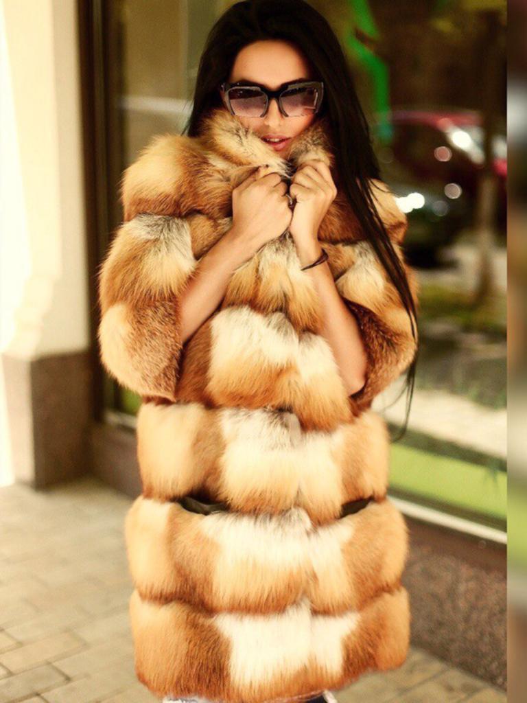 купить шубу из лисы