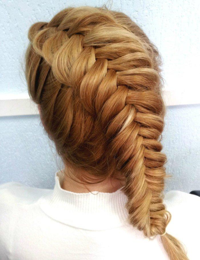 обратное плетение косы