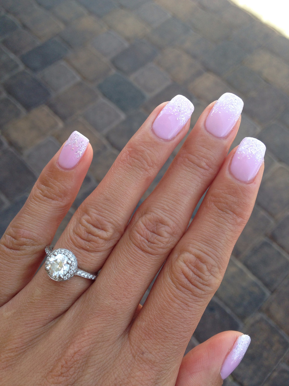 pink and white ombre nails - HD 1200×1600