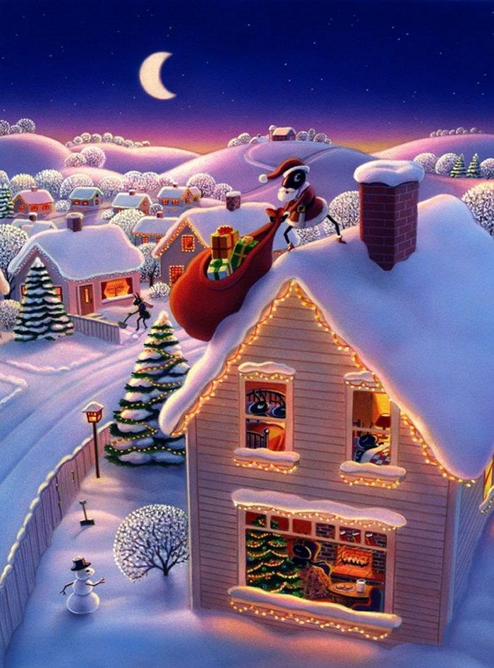 частицу уходящей красивые зимние сказочные картинки на телефон тебе приятных