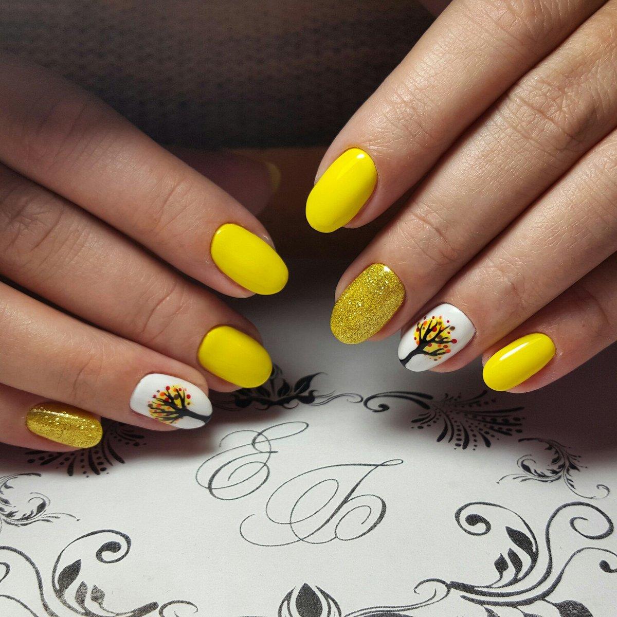 Гель лак желтый картинки