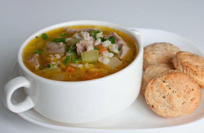 Рецепт супа с перловкой на говяжьем бульоне — 7