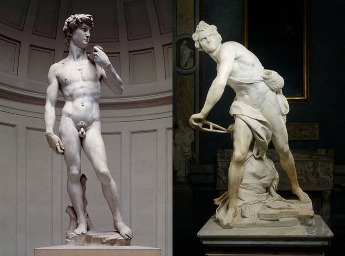 an analysis and a comparison of michelangelos david and berninis david