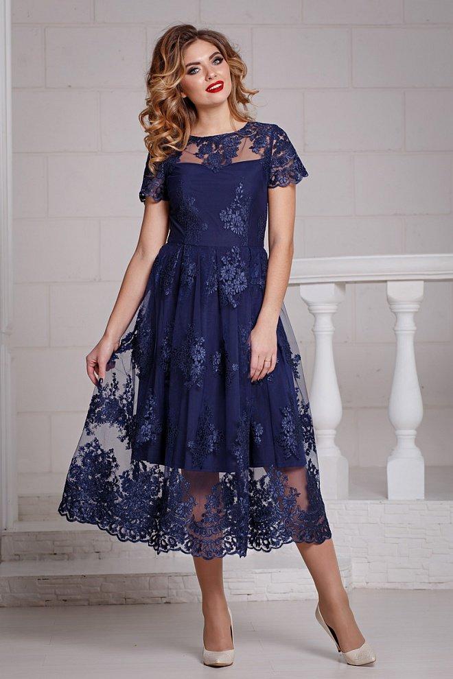 b1bd728f721 Платье из кружевного полотна на сетке
