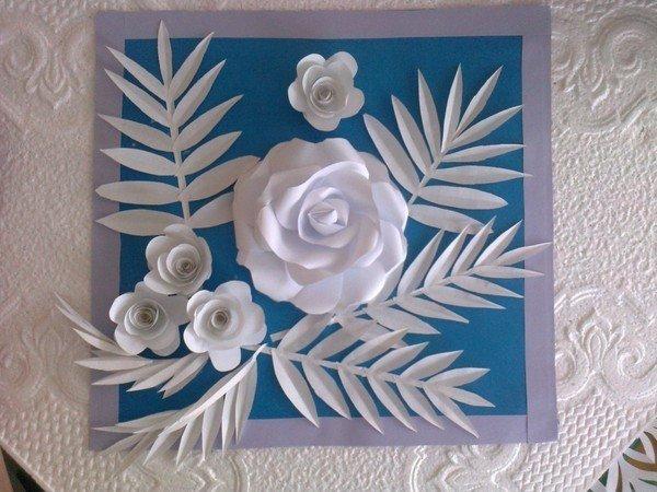 Изготовление открыток бумагопластика, мужу