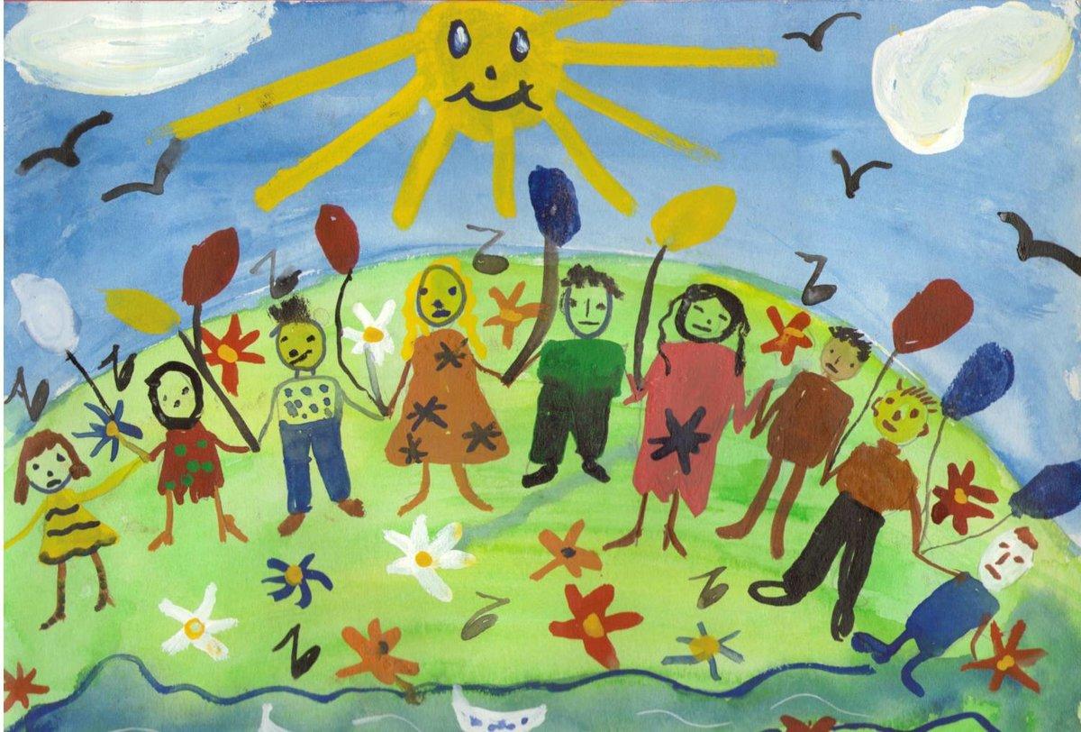 Детские рисунки рисунки друзей