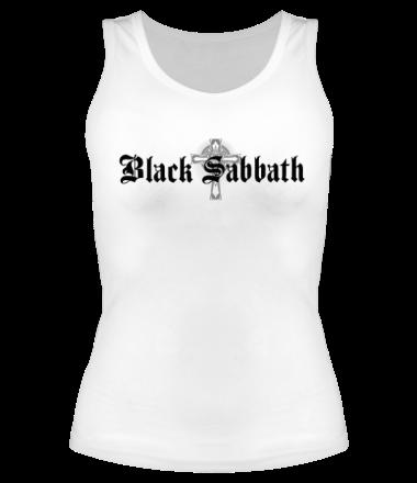 Женская майка Black Sabbath text with logo