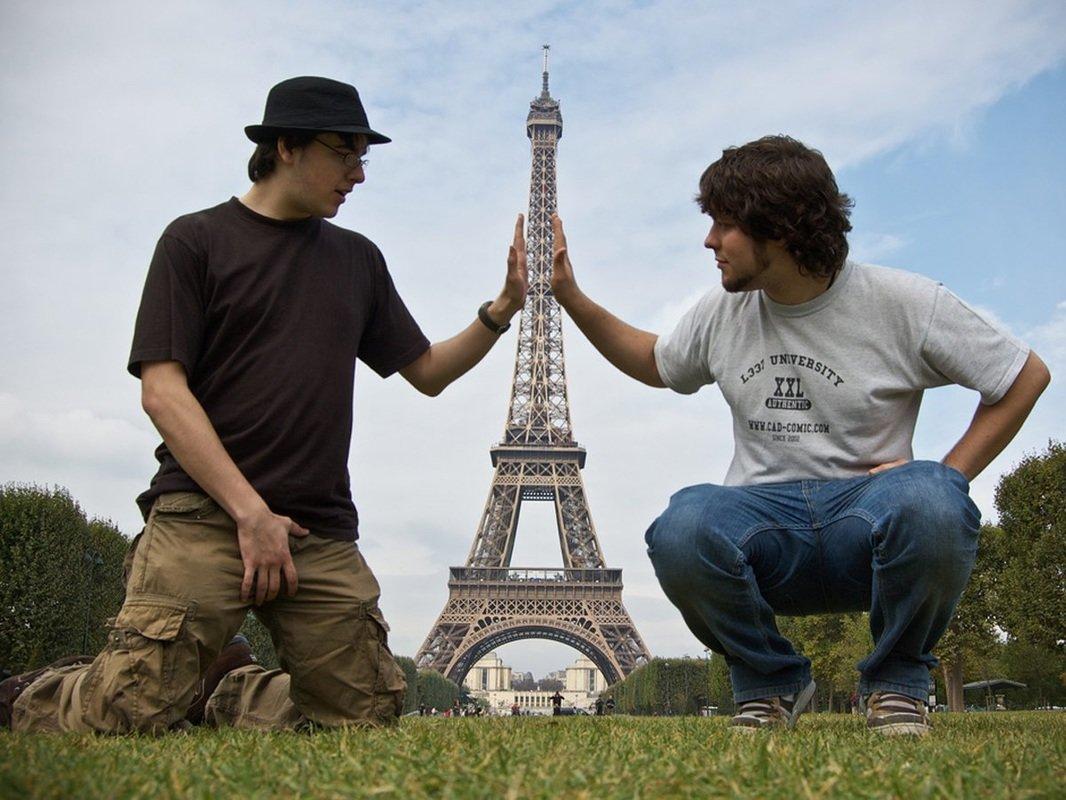 Прикольная картинка на францию, пожеланием спокойной