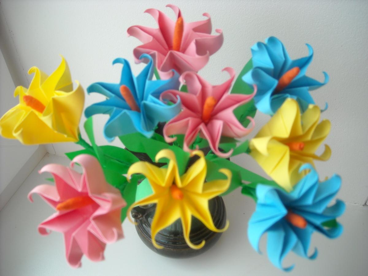 Поделки цветов своими руками для детей фото 975