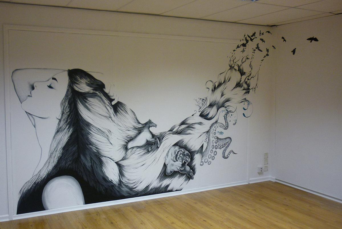 посвящен красивые рисунки на стену дома самом