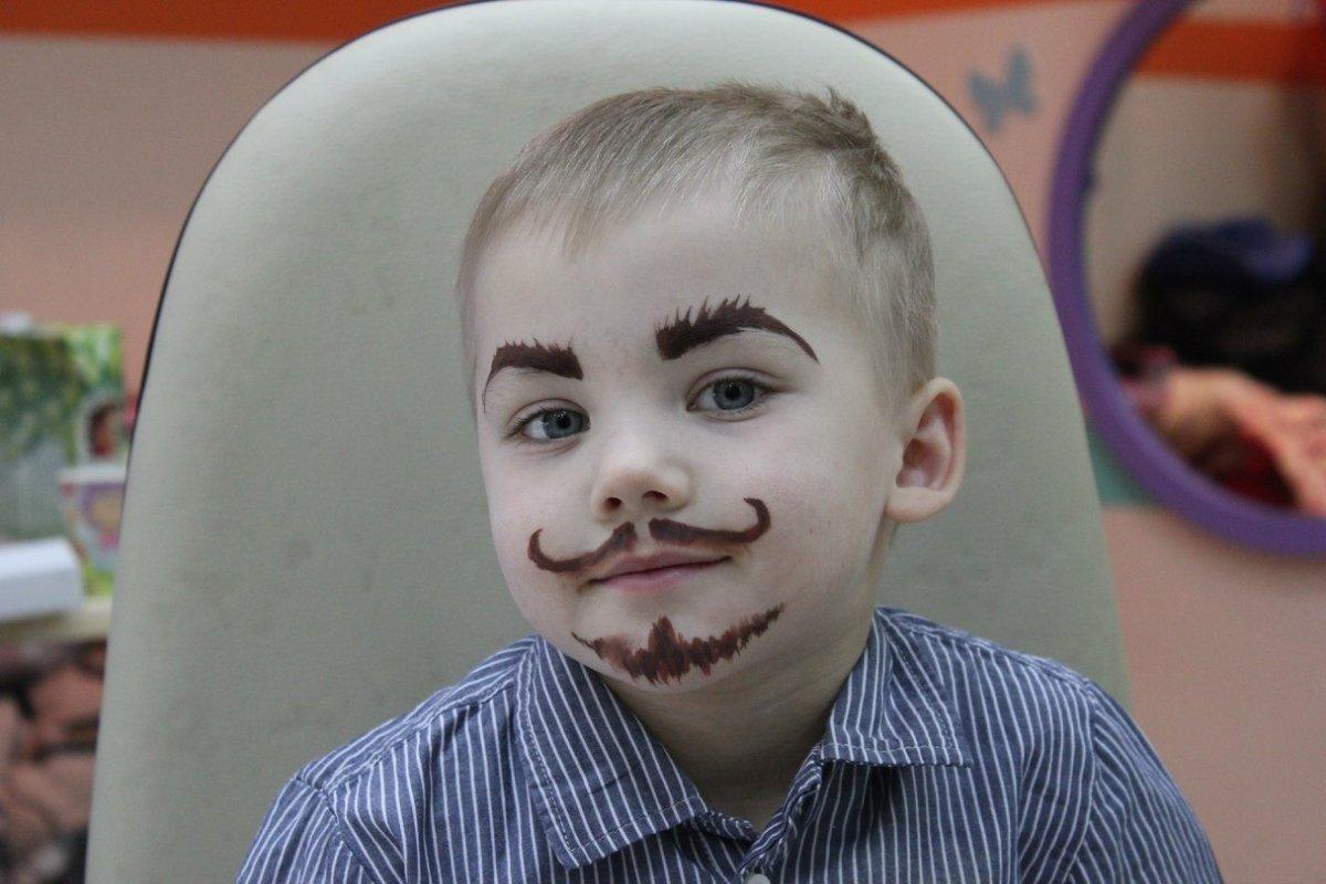 Открытки, смешные рисунки на лице для мальчиков