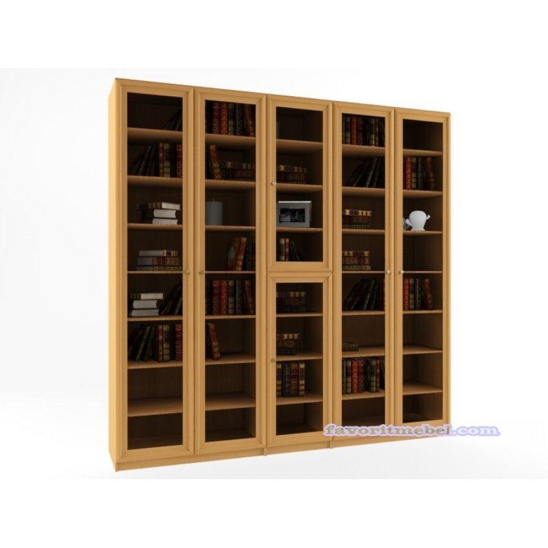 Книжный шкаф гала 5.1 шкаф библиотека для книг ,размер:2000*.