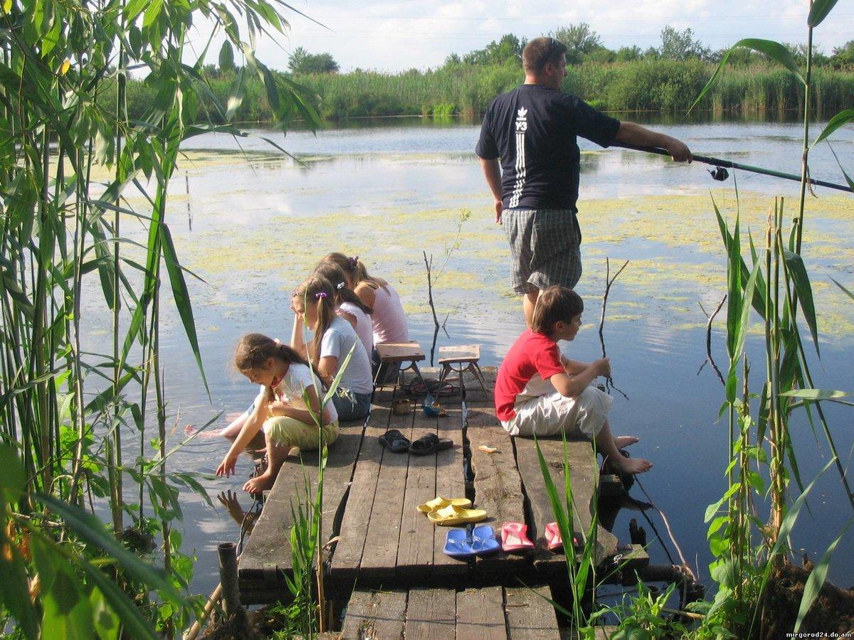 Дети идут на рыбалку картинки