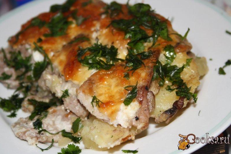 Мясо по французски рецепт фото с грибами