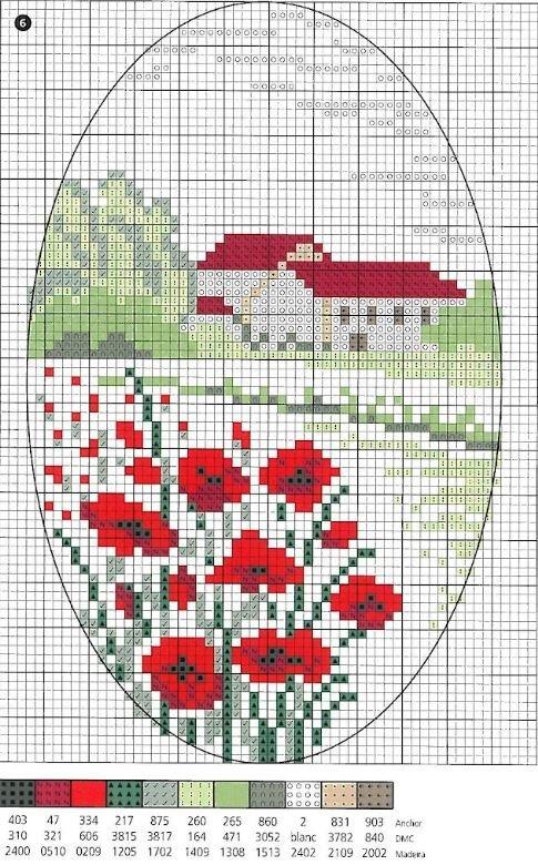 Маленькие схемы для вышивки цетов - Цветы крестиком 30