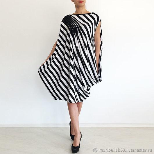 2e46842ded9 ... Купить или заказать Платье туника Ассиметричное платье Модное платье  Платье в полоску в интернет-магазине
