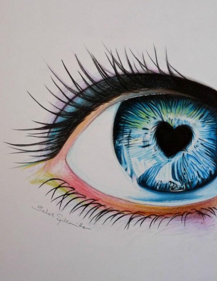 все красивые рисунки карандашом цветным простые используют при