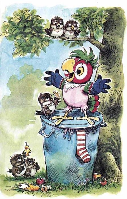 А самые веселые и шкодные на свете существа получались у Анатолия Савченко: блудный попугай Кеша, ленивый Вовка в Тридевятом царстве – и тот самый Карлсон! Другие Карлсоны просто неправильные,
