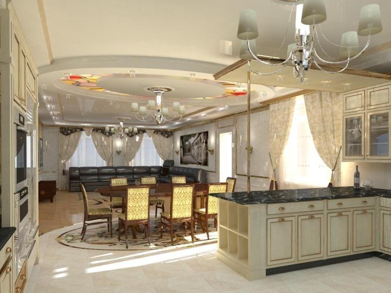 Кухня интерьер дизайн фото в частном доме