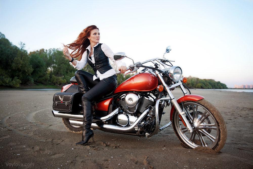 Картинки с рыжей девушкой на мотоцикле, красивые картинки смешной