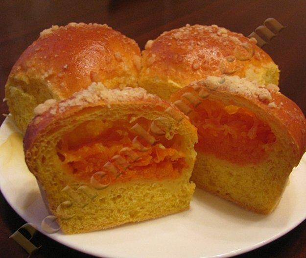 Пирог дрожжевой с тыквой