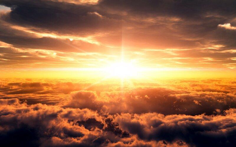 Рассвет в облаках