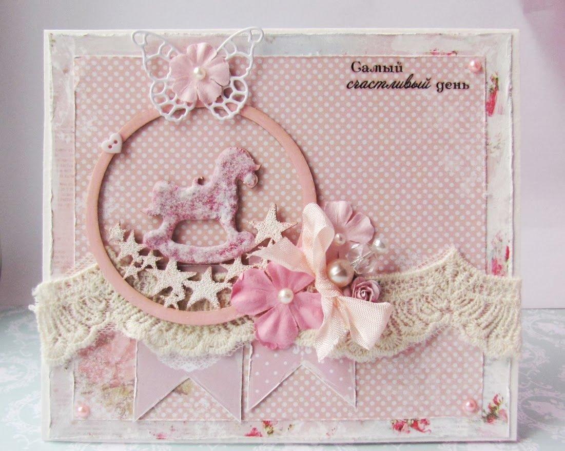 Стиле шебби, открытки конверты скрапбукинг мк с новорожденным