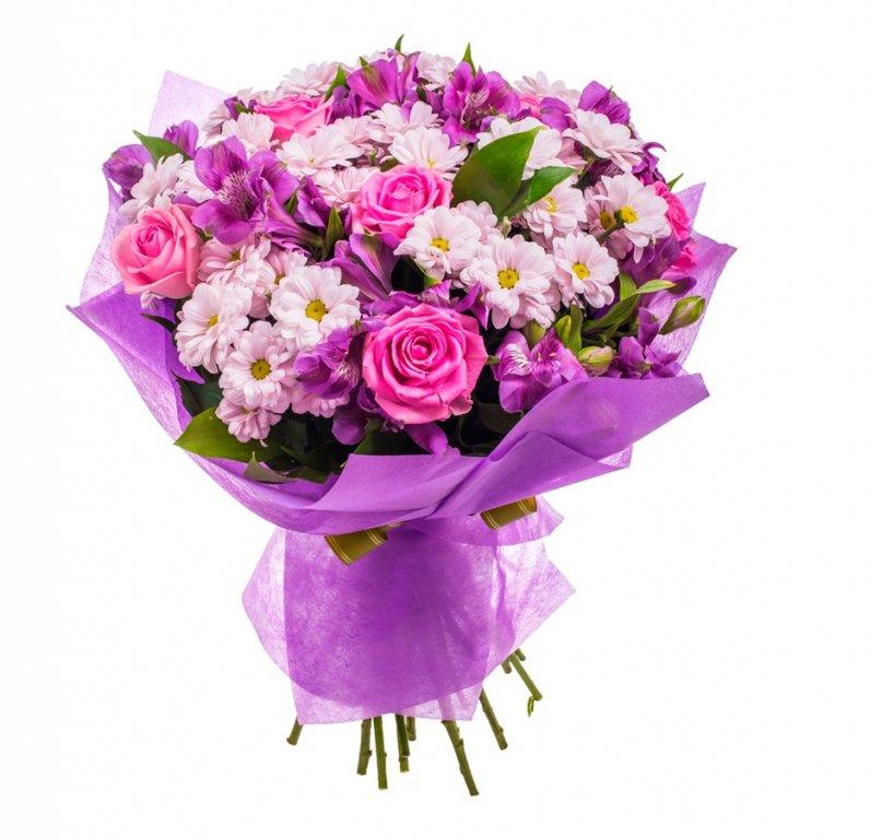 Французских, букеты настольные из роз и хризантемы