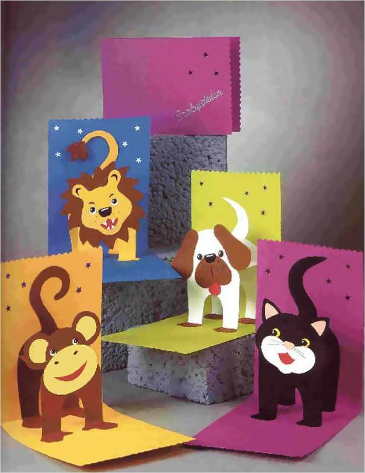 Лицензионные, кошка открытка объемная