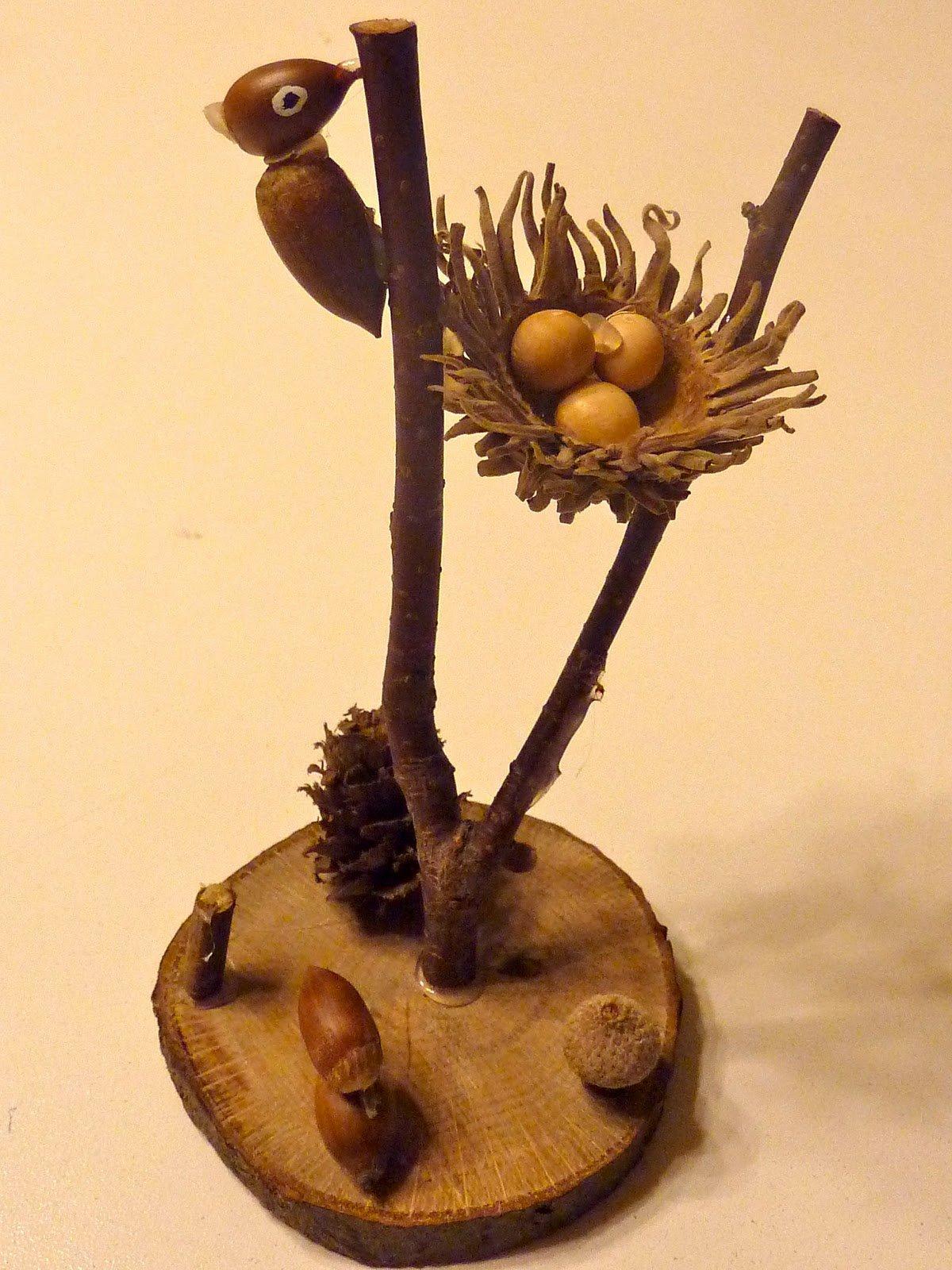 гнездо из желудей и шишек в картинках магазин