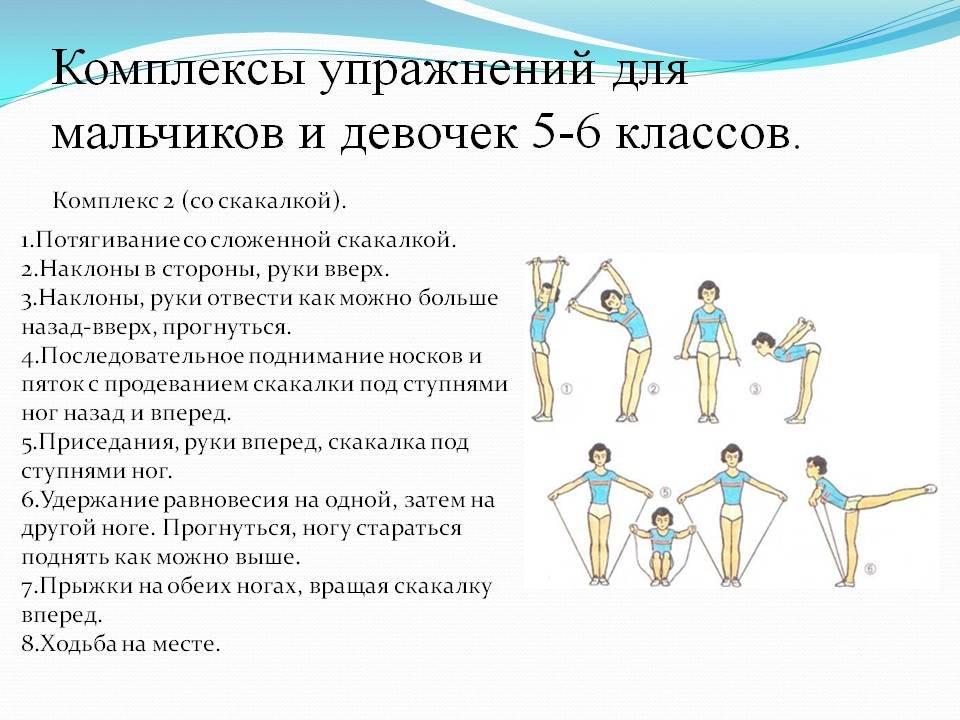 Разминка для физкультуры с картинками