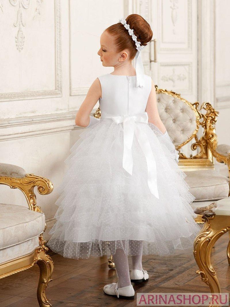 Пышная белая юбка из фатина для принцессы.