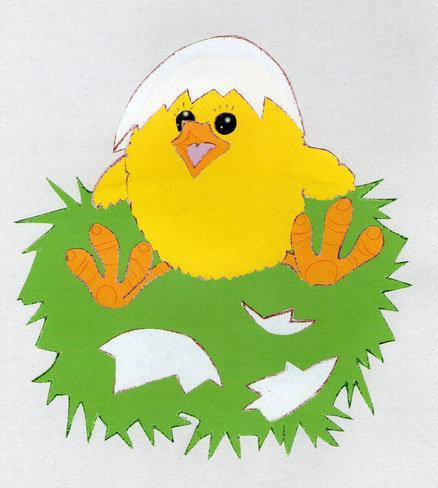 Открытка цыплята на лугу вырезать из бумаги оригами, прикольные картинки