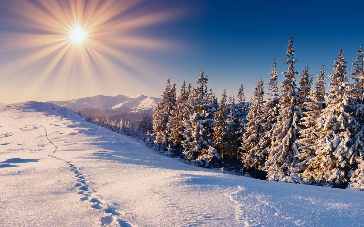 Картинки с красивыми новогодними пейзажами, набор для создания