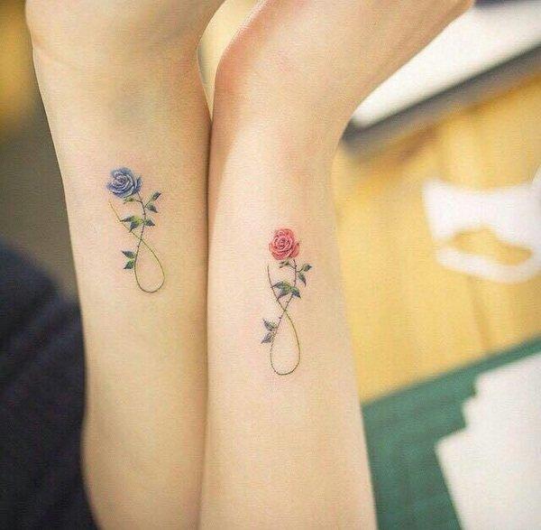 Модные татуировки для девушек на ноге (фото) 78