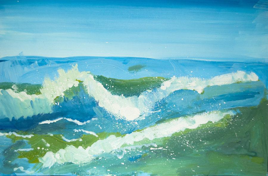 Рисунок море картинки