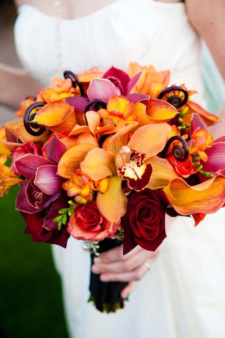 Круглосуточно москва, необычный яркий букет невесты
