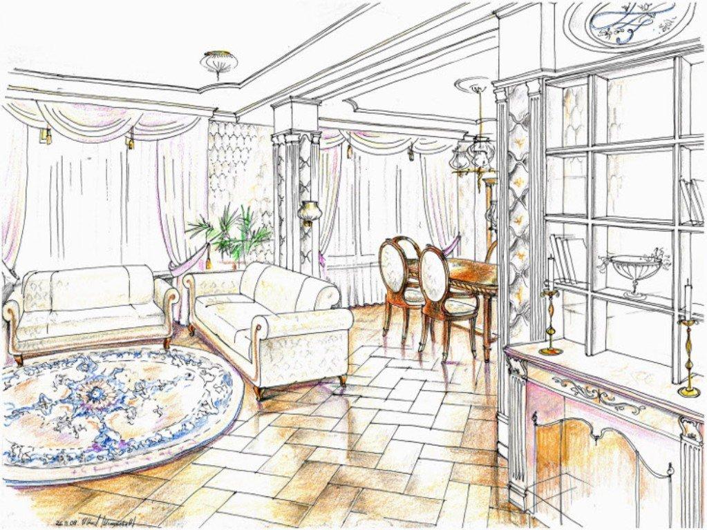 разработка интерьера комнаты