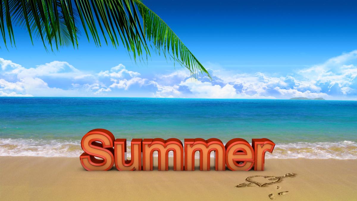 Летние картинки с надписью лето