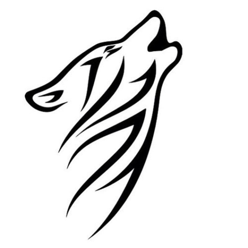 рисунки волков для тату