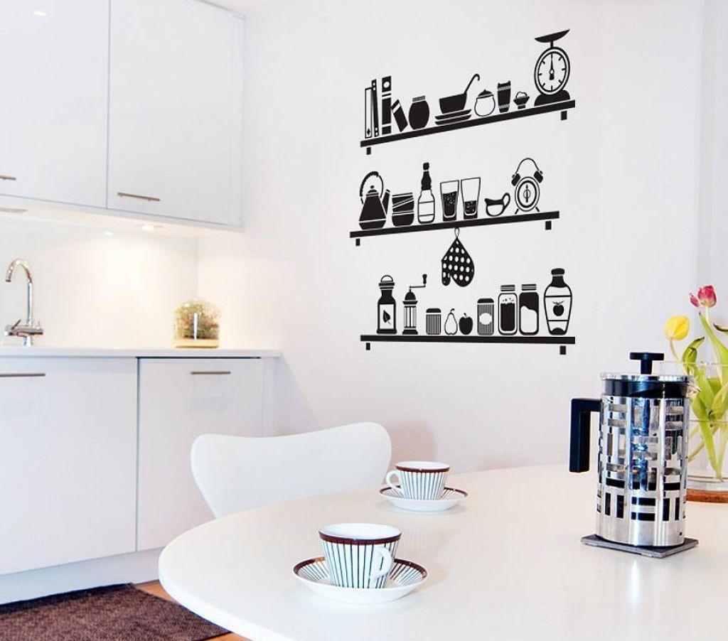 Днем рождения, рисунок на стене на кухне