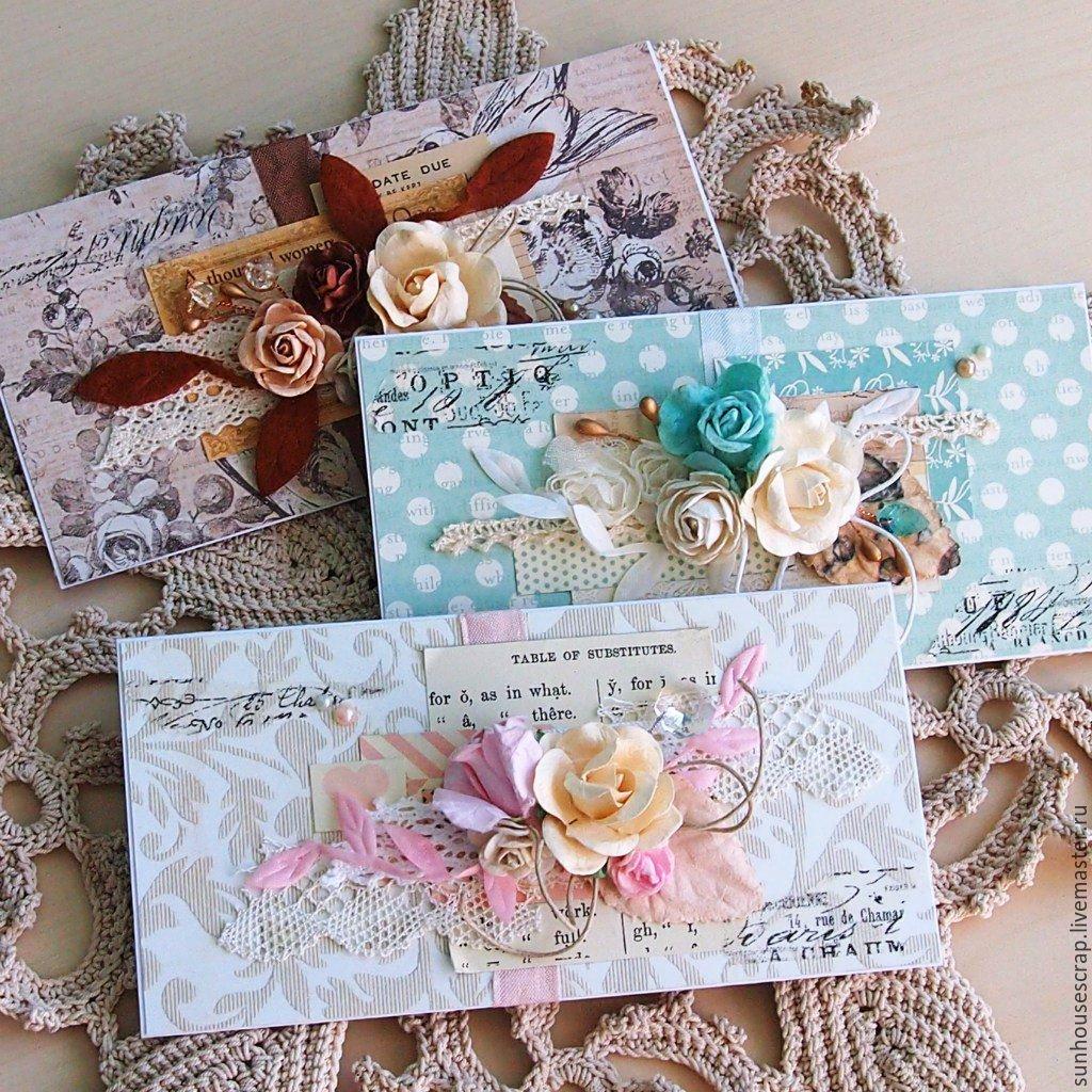 Скрапбукинг конверты для открыток, цветами открытке своими
