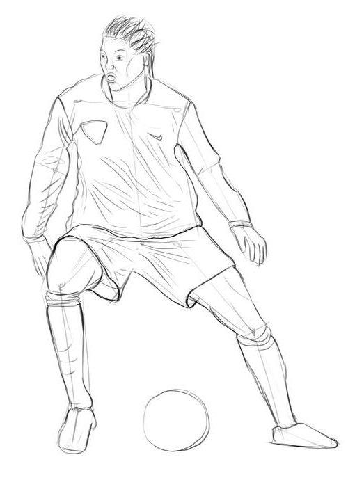 Рисунки спортсменов карандашом в движении в полный рост