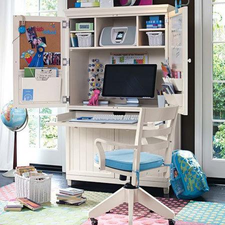 Рабочее место в детской, как обустроить, расположить, фото, видео
