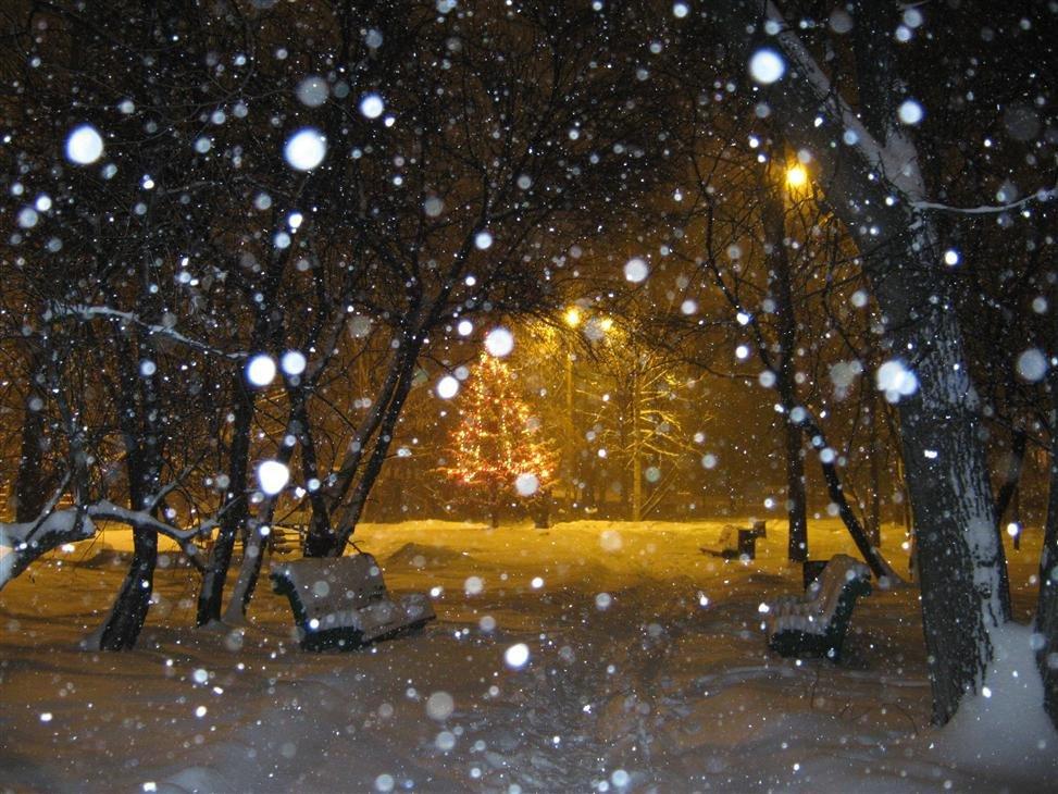 еще это фото зимы ночью идет снег ручной рычаг, благодаря