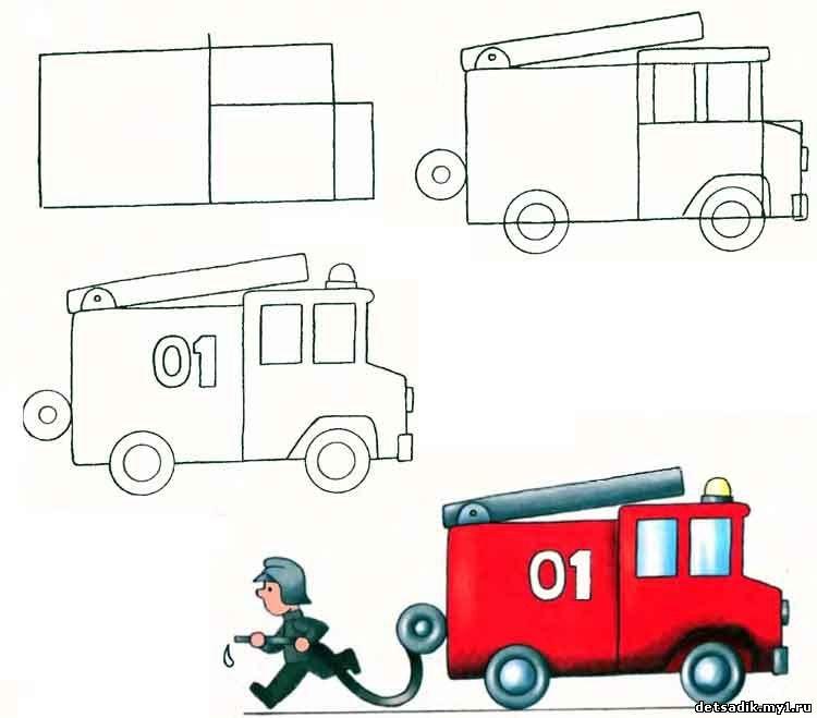 Рисование пожарной машины в подготовительной группе конъюнктивит кошек
