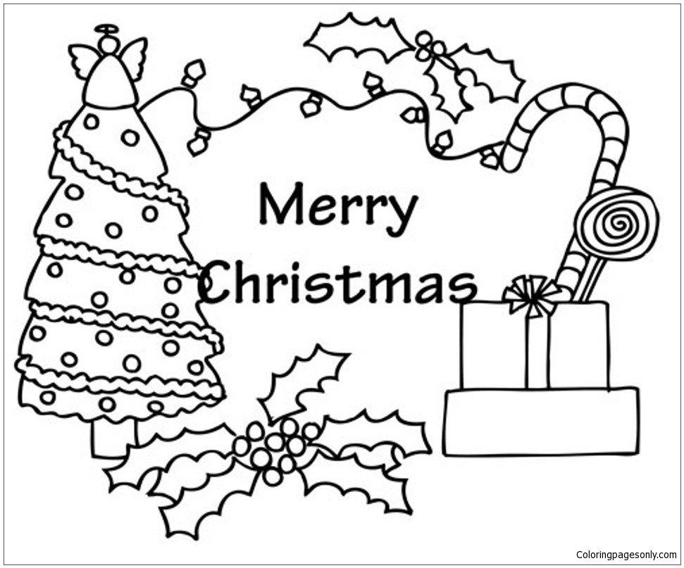 Нарисовать рождественскую открытку на английском языке
