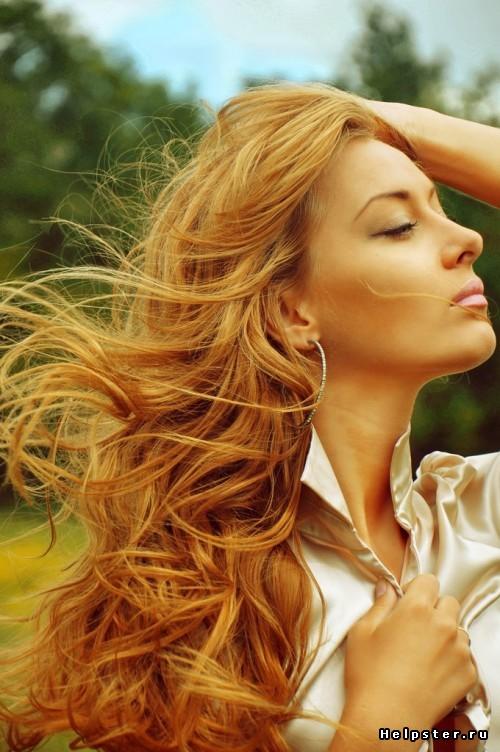 золотистый цвет волос фото краска