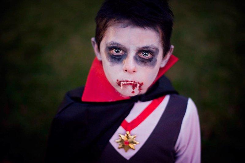 аквагрим фото вампира